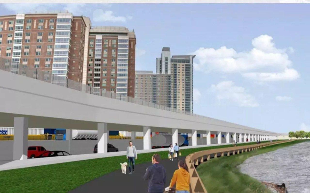 波士頓近年最大的高速改造項目終於揭曉,麻州收費公路奧斯頓段將修新高架。(麻州交通...