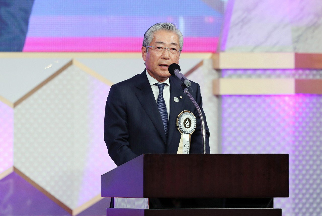 日本奧林匹克委員會(JOC)主席竹田恒和。 歐新社