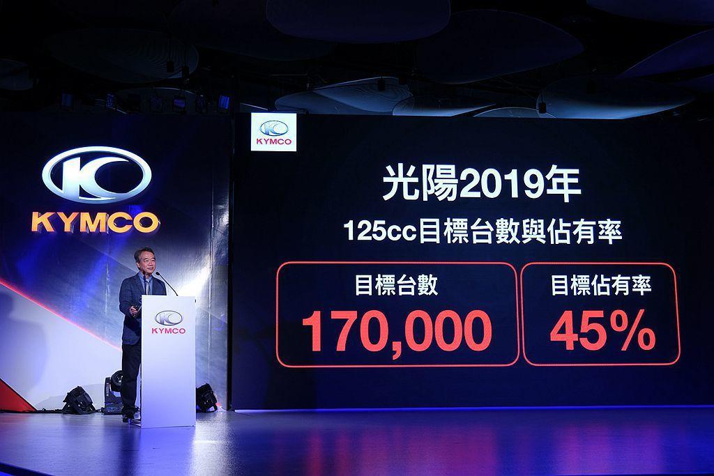 光陽機車今年以「全車系銷售超過33萬台、市佔率45%以上」、「125CC銷售超過...
