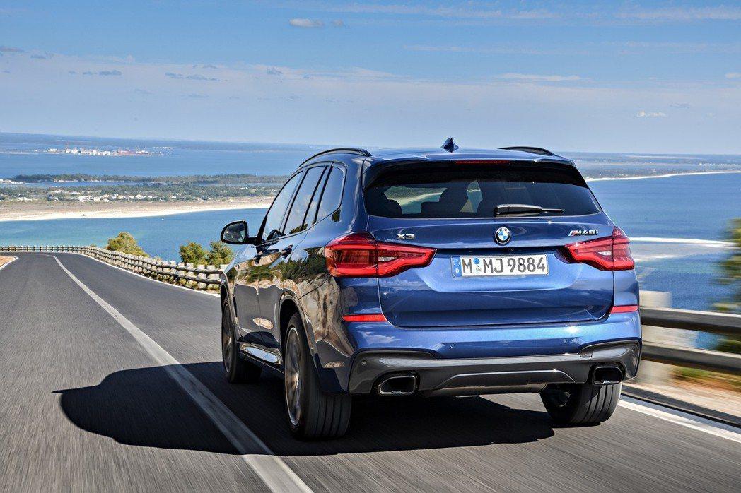 BMW X系列去年銷量就佔了品牌的37.3%。圖為新世代BMW X3。 摘自BMW