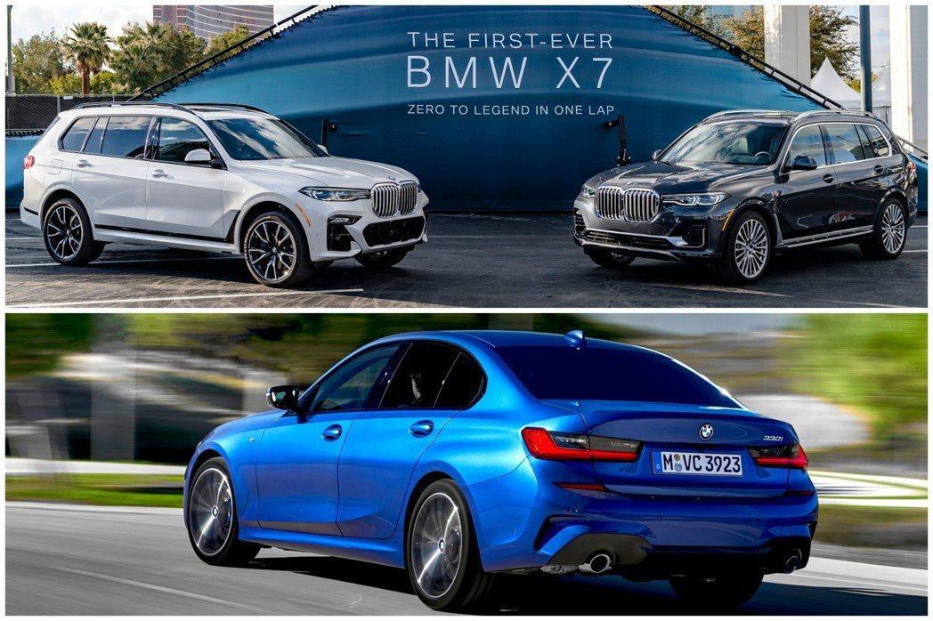 全新BMW X7與新世代BMW 3 Series,都預計在今年正式上市。 摘自BMW