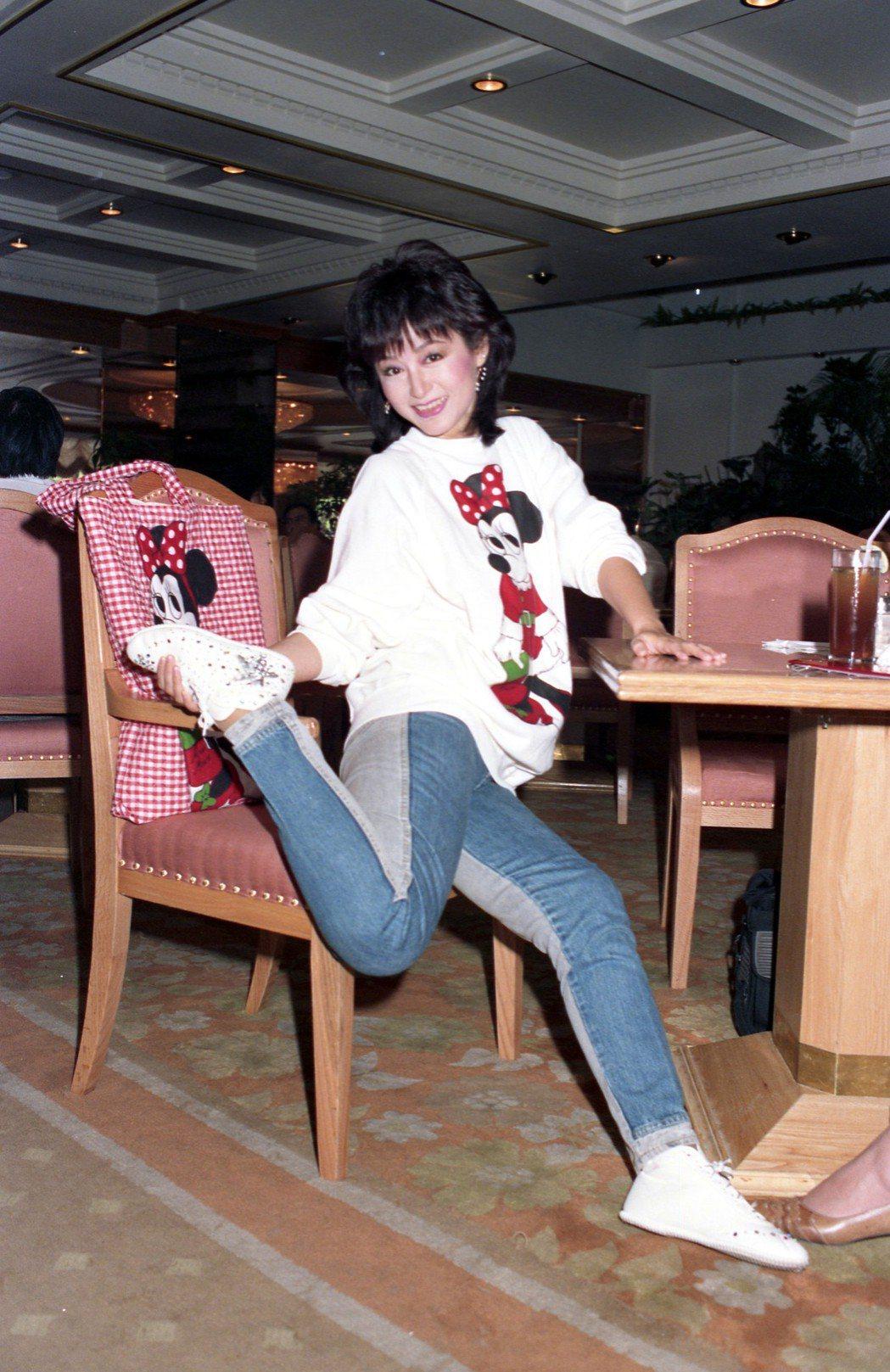 潘迎紫演時裝劇別有一股親切感,大受台灣觀眾喜愛。圖/報系資料照片
