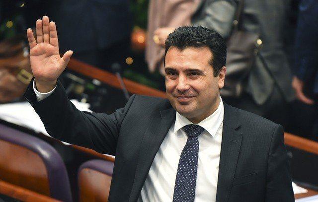馬其頓總理薩耶夫。歐新社