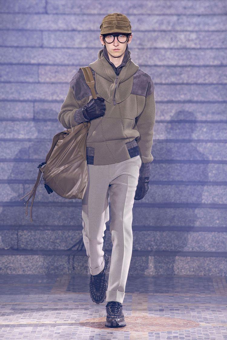 戶外運動服裝的細節,融入的Ermenegildo Zegna的秋冬男裝系列中,呼...