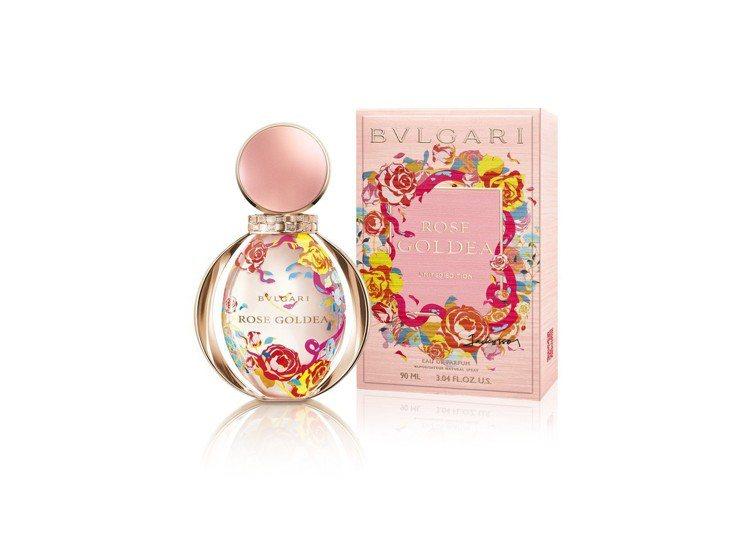 寶格麗玫瑰金漾女性淡香精限量版,90ml售價5,450元。圖/盧亞提供