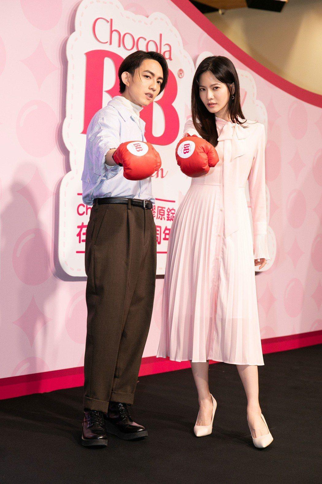 林宥嘉(左)、曾之喬出席保健品活動。圖/Chocola BB提供