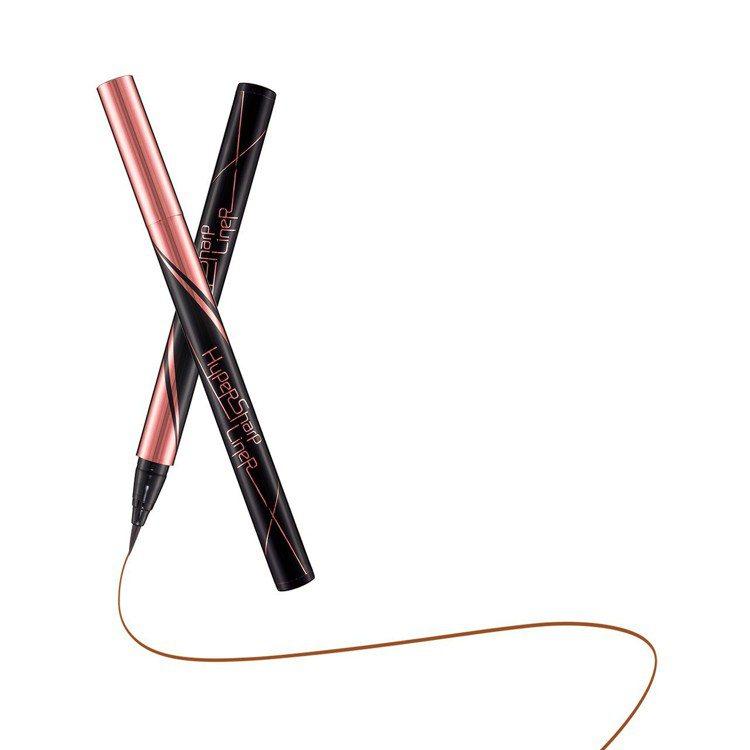 MAYBELLINE媚比琳超激細抗暈眼線液「蜜桃棕」,售價350元。圖/媚比琳提...