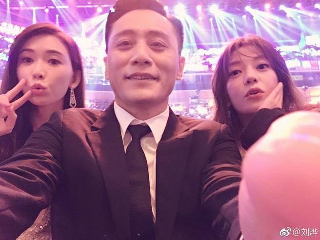 林志玲(左起)、劉燁、趙薇。圖/摘自微博