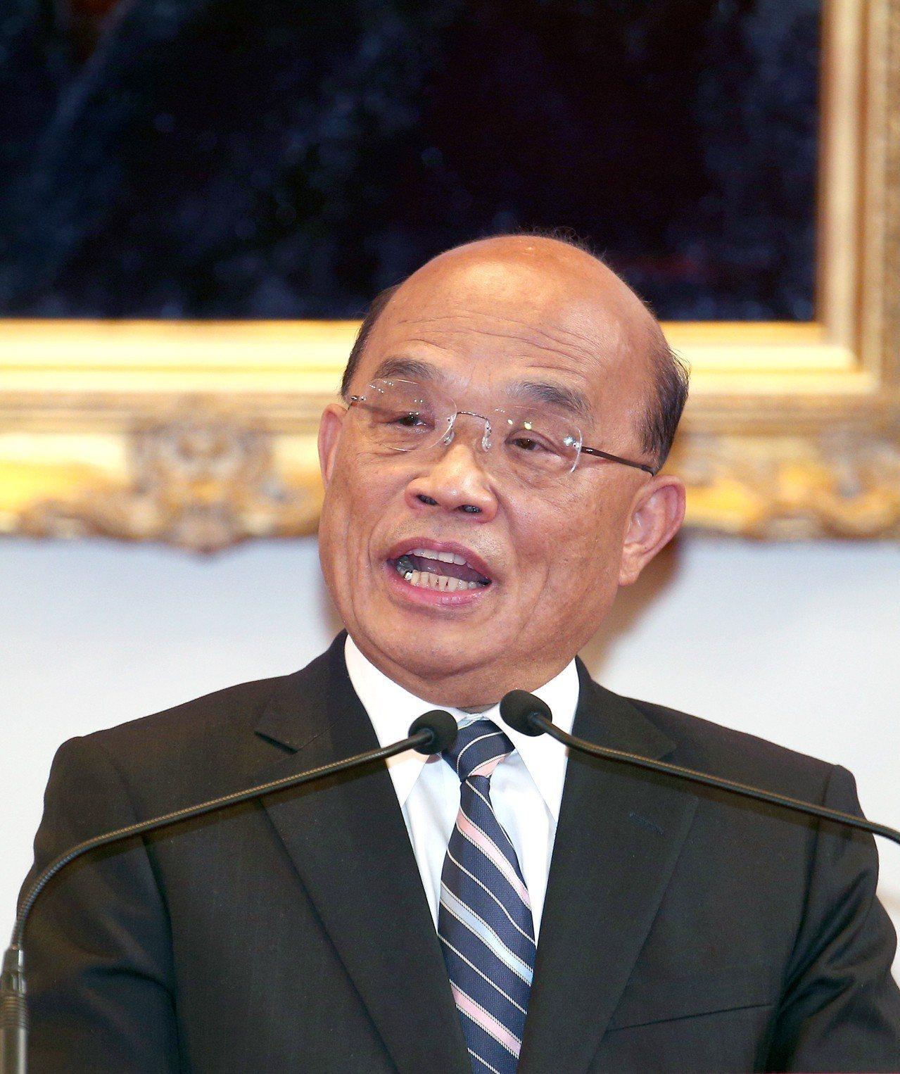 行政院長蘇貞昌。聯合報系資料照片/記者蘇健忠攝影