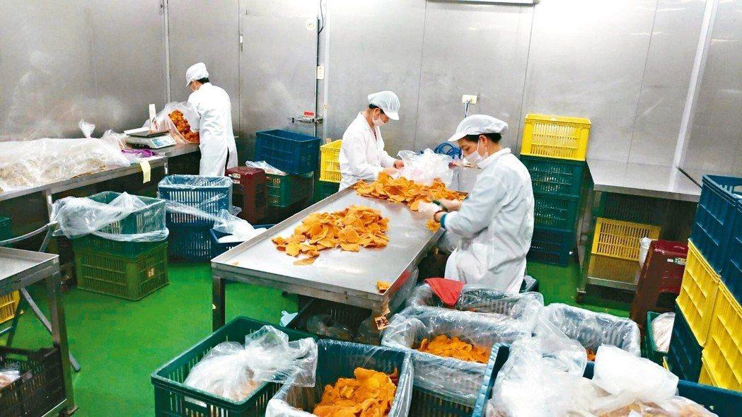 芒果乾製造場景