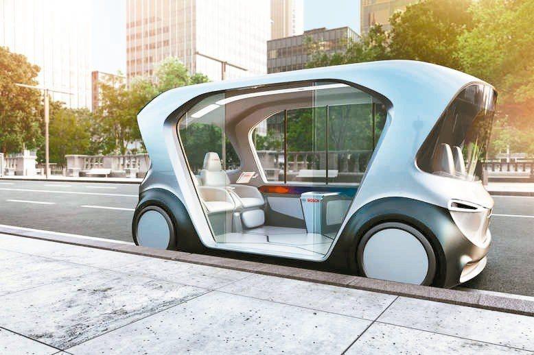 Bosch的4人用自駕小巴概念車外觀。 圖/取自Bosch