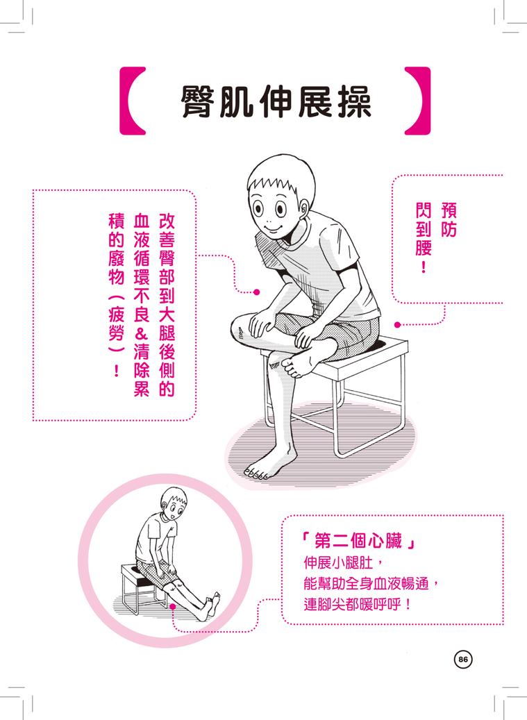 圖/摘自《懶人瑜伽:【漫畫解剖】16式超有感「輕懶慢」宅瑜伽,拯救你的自律神經失...