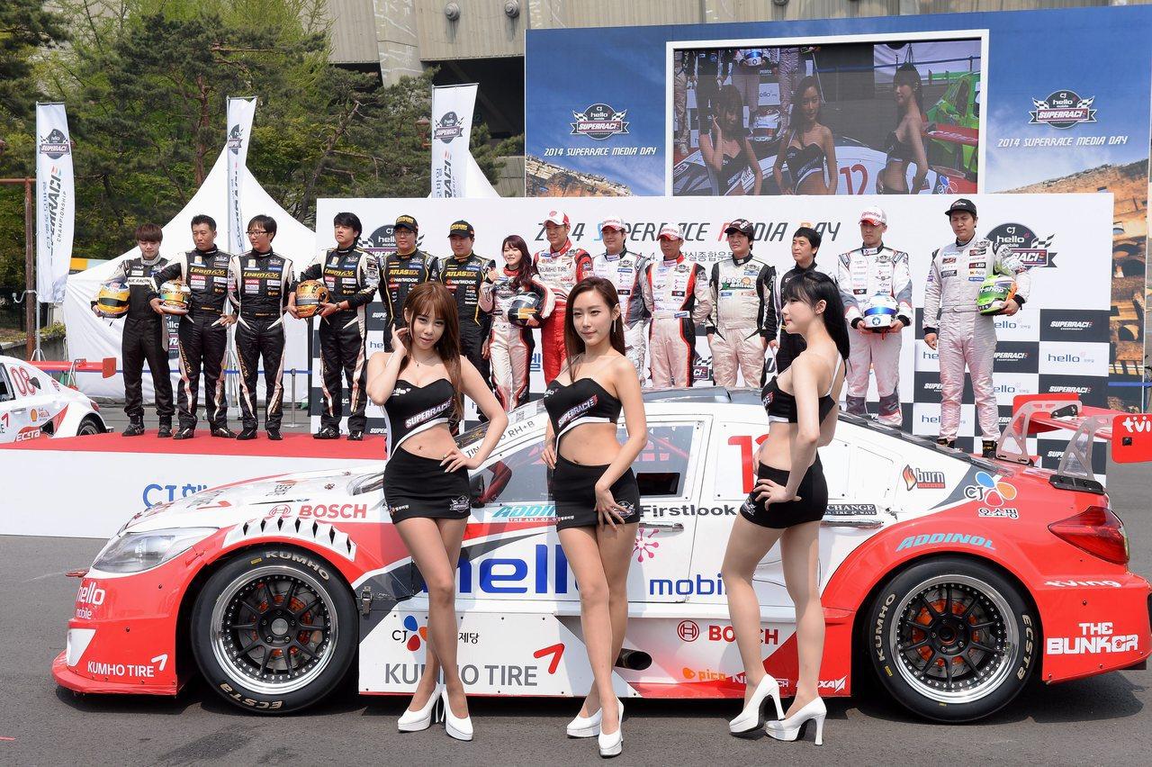 南韓賽車活動檔案照。歐新社