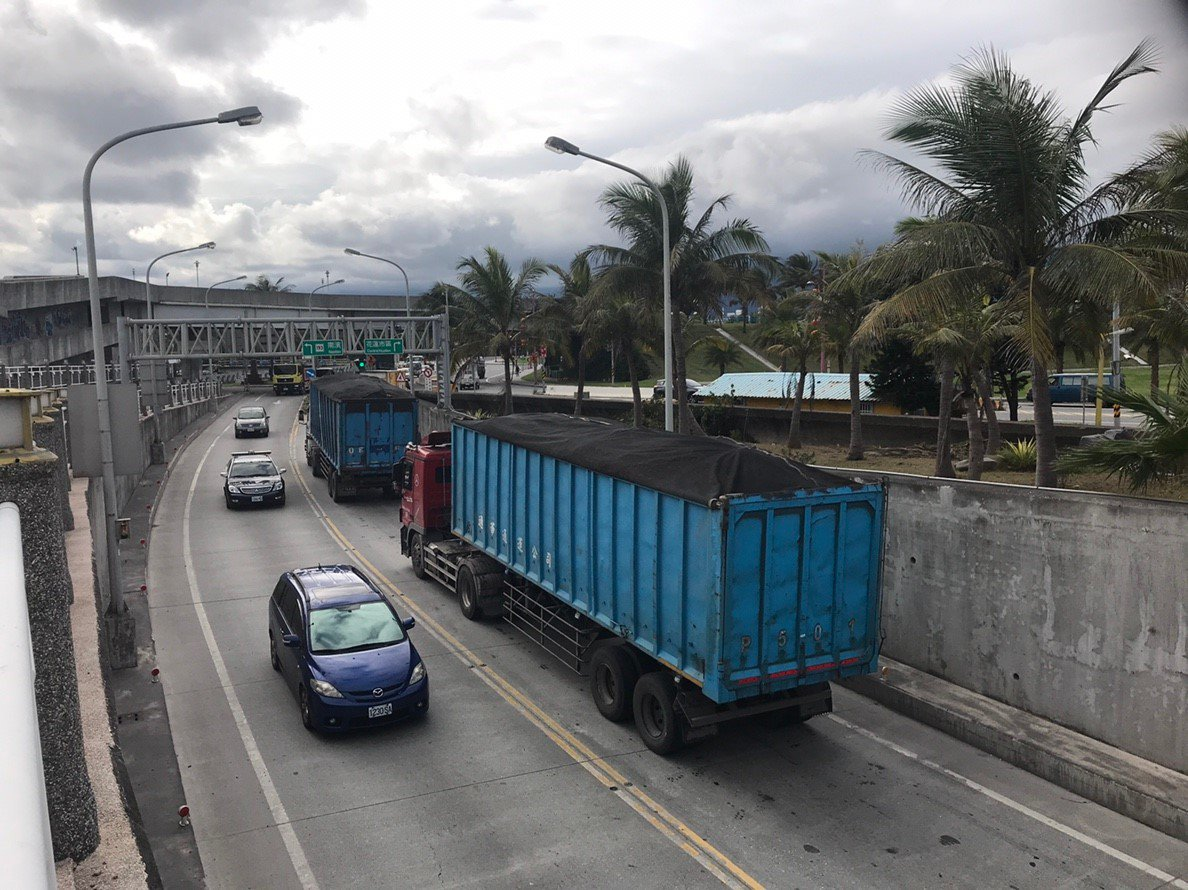 花蓮市北濱外環道是市區重要的外環道路,14日起一連5天封閉保養。圖/花蓮市公所提...