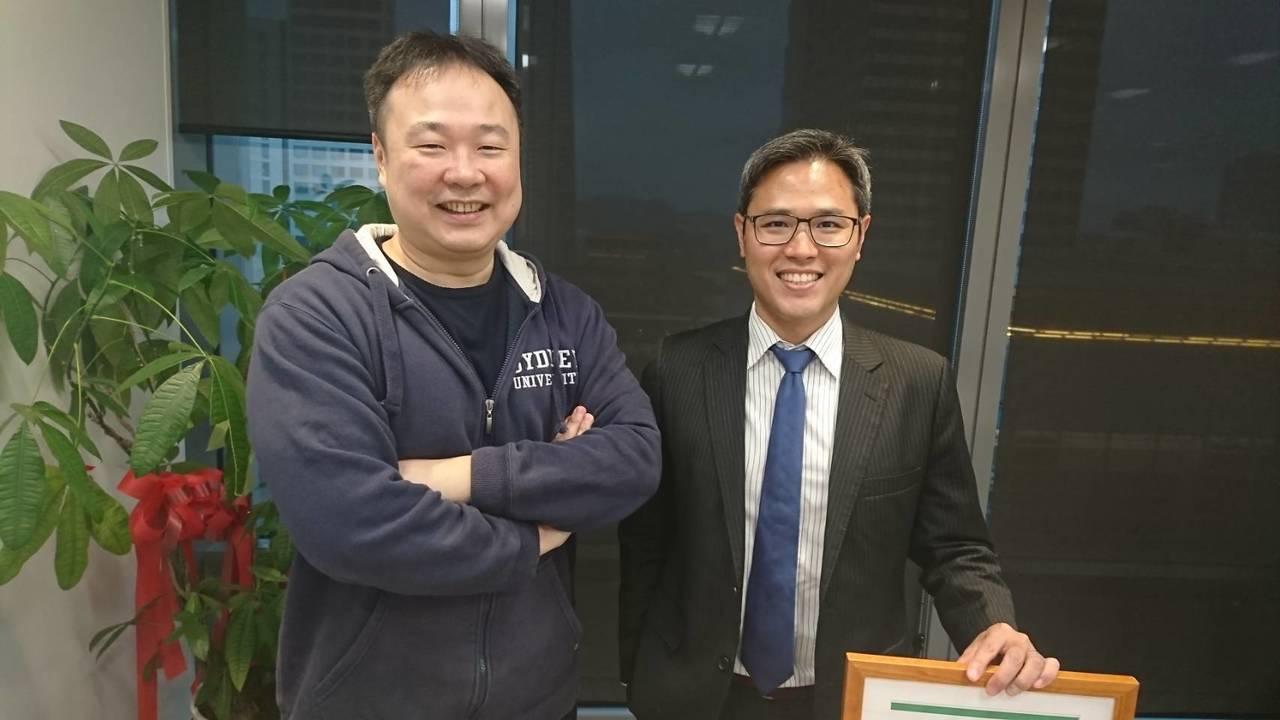 財務長莊晧淵(左)是林雨新的哥大EMBA學弟,莊晧淵兼具特許金融分析師及金融風險...