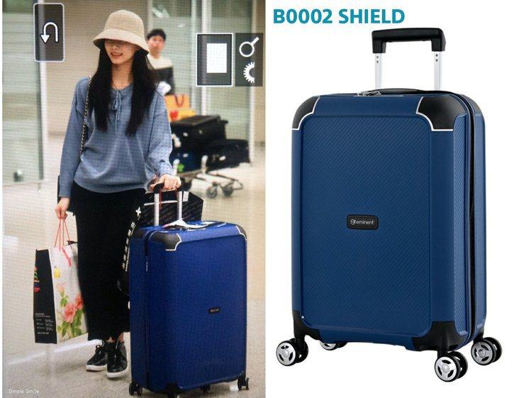 子瑜昨天用的萬國通路行李箱是新款商品。圖/摘自推特