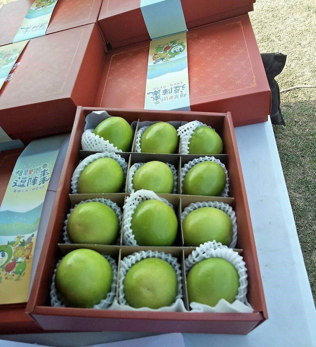 屏東縣高樹鄉公所準備了蜜棗等水果伴手禮,為地方產業大力行銷。圖/高樹鄉公所提供
