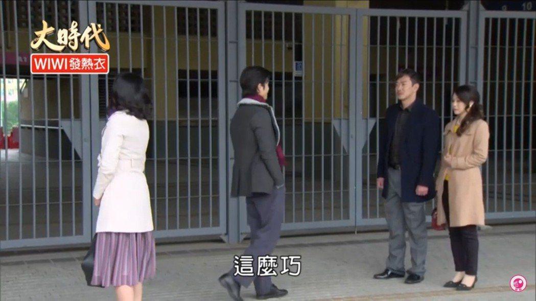 陳延安(右起)、江俊翰、Gino、江祖平近期在「大時代」戲中四角黃昏戀糾葛。圖/
