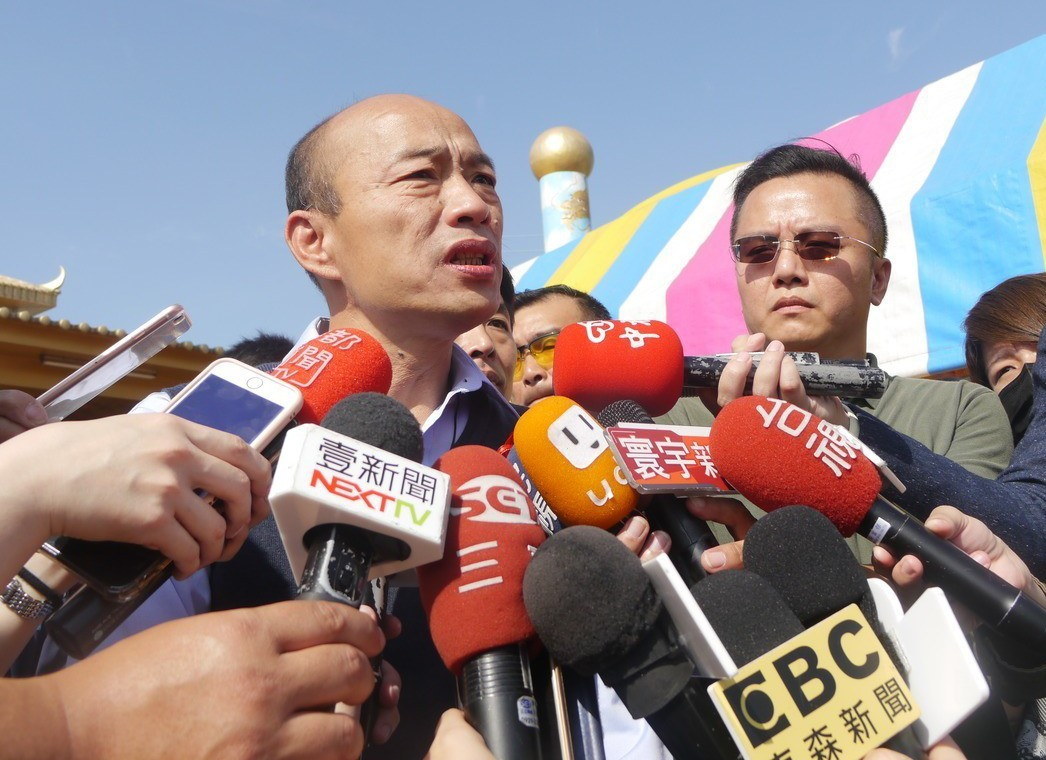 高雄市長韓國瑜表示,高雄幾項重大建設迫在眉睫,非常需要中央協助。 圖/聯合報系資...