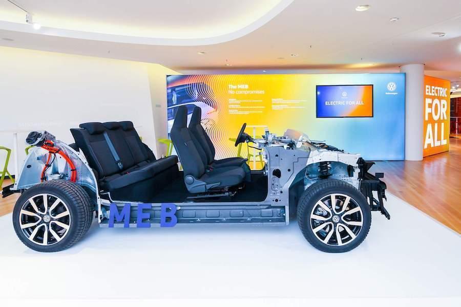 Volkswagen MEB模組化底盤。 摘自Volkswagen