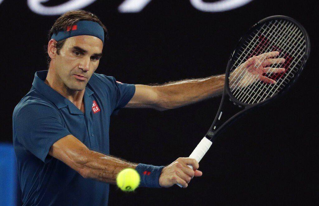 費德勒在澳洲網球公開賽首輪輕鬆過關。 美聯社