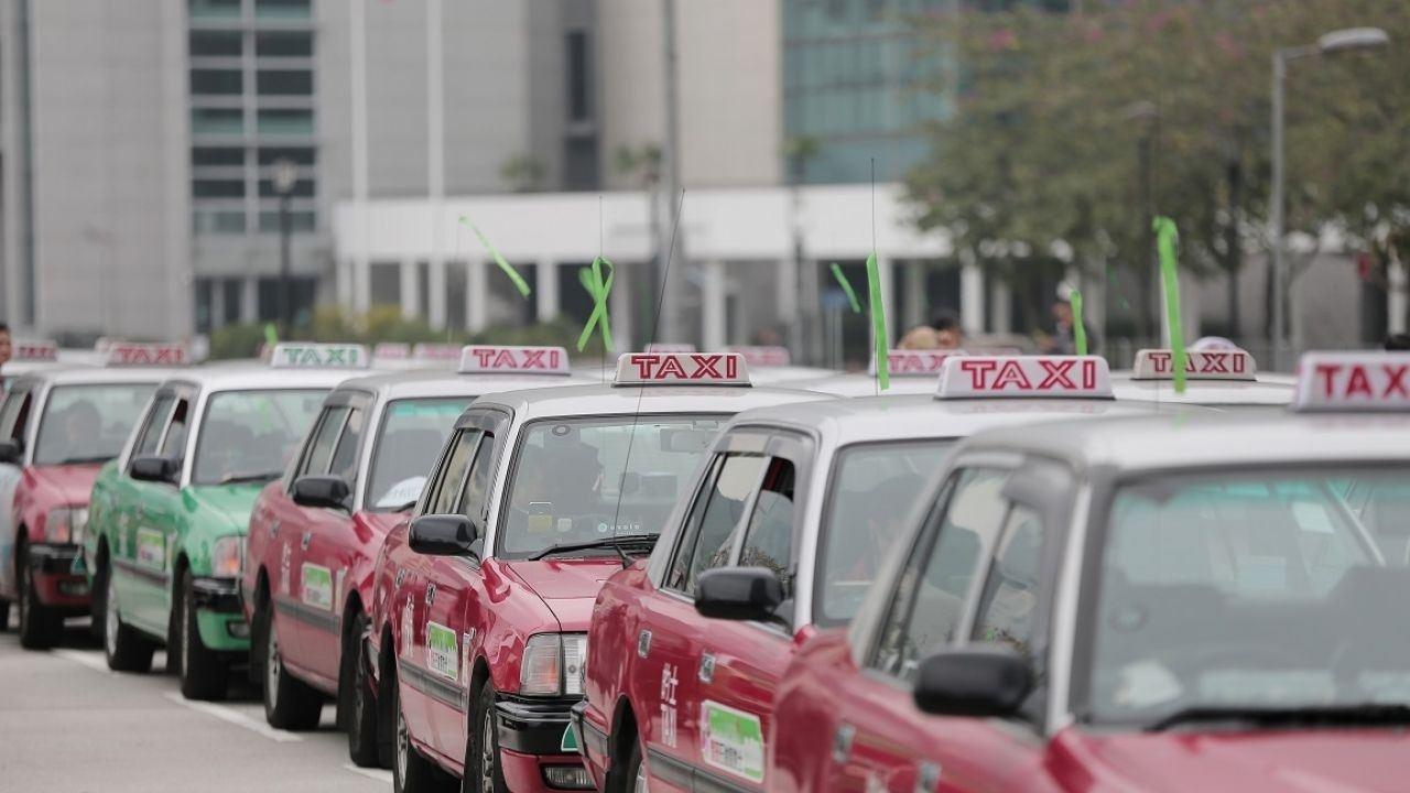 計程車業界過去曾發起不同抗議行動圖/擷自香港01資料照