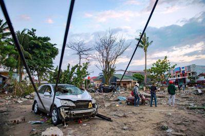 圖為2018年9月蘇拉威西島海嘯後的現場狀況。圖/路透社
