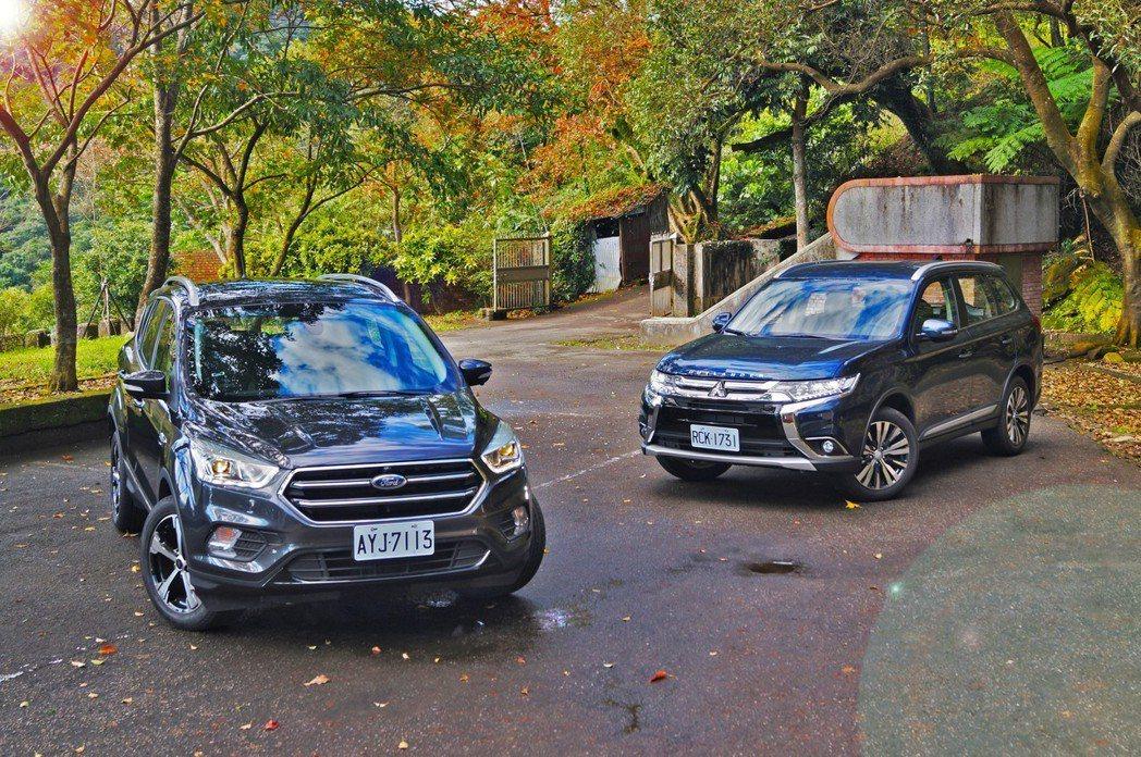Ford KUGA與Mitsubishi Outlander也是休旅市場上另一種...