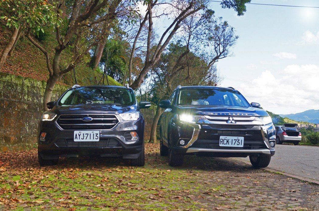 Ford KUGA 、Mitsubishi Outlander。 記者趙駿宏/攝...