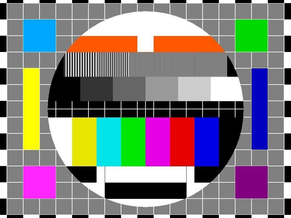 以前電視開台前畫面。 圖片來源/爆怨公社