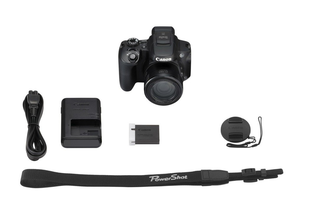 PowerShot SX70 HS全配件。 台灣佳能資訊/提供