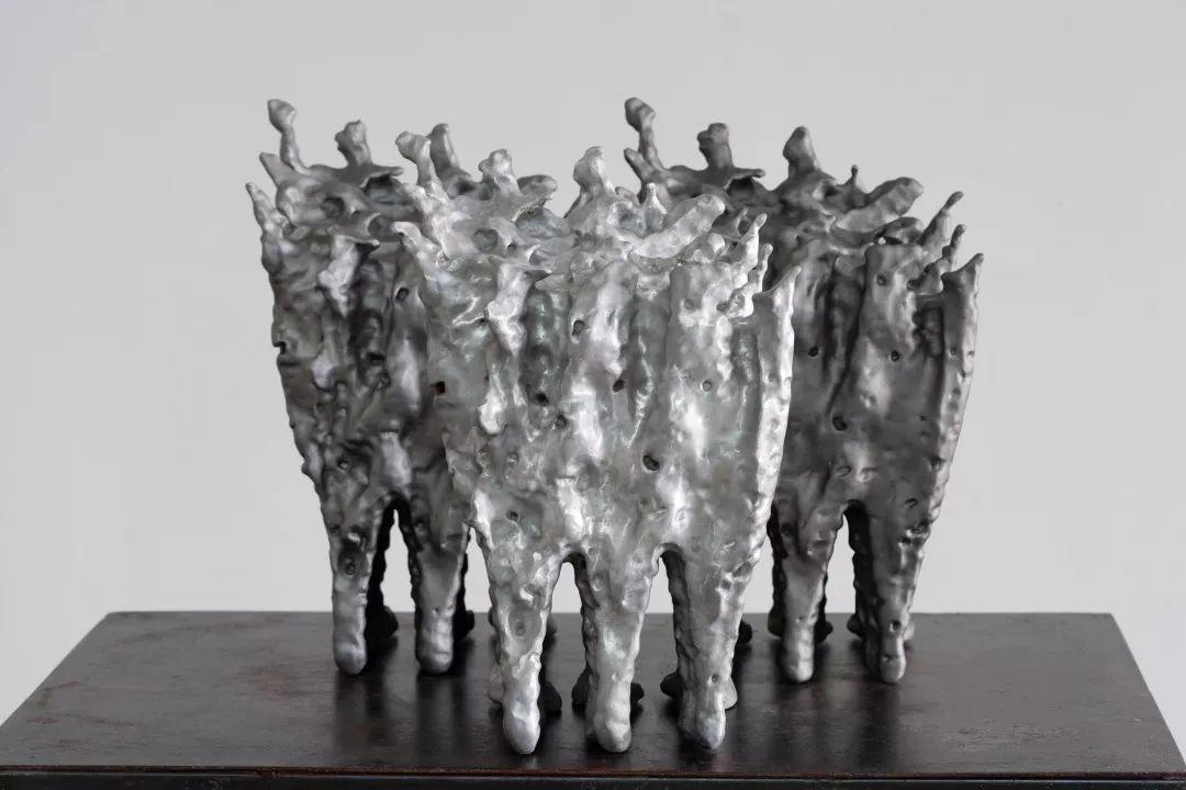 展望〈隱力〉2017 流體力學演算法、3D列印、鋁 41 x 25 x 21 c...