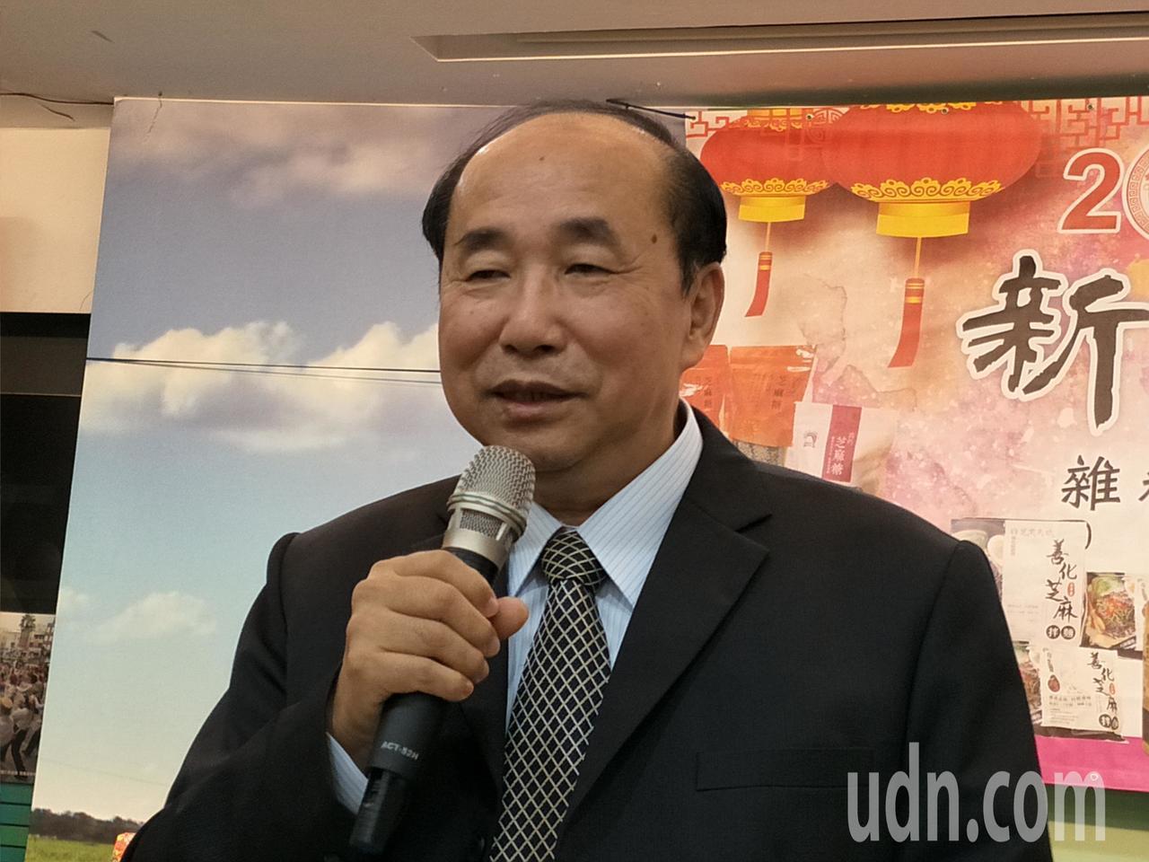 台南市政府農業局長李朝塘強調施政要接地氣。記者謝進盛/攝影