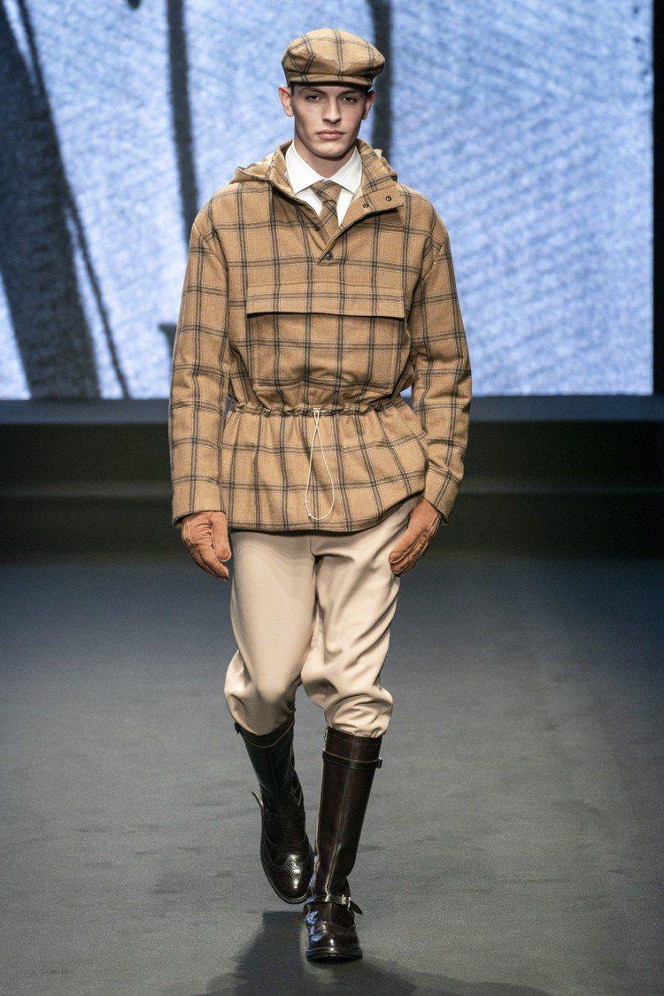 DAKS 2019秋冬男裝系列,老派的優雅,基本上也就是英國紳士的古典裝束再演繹...