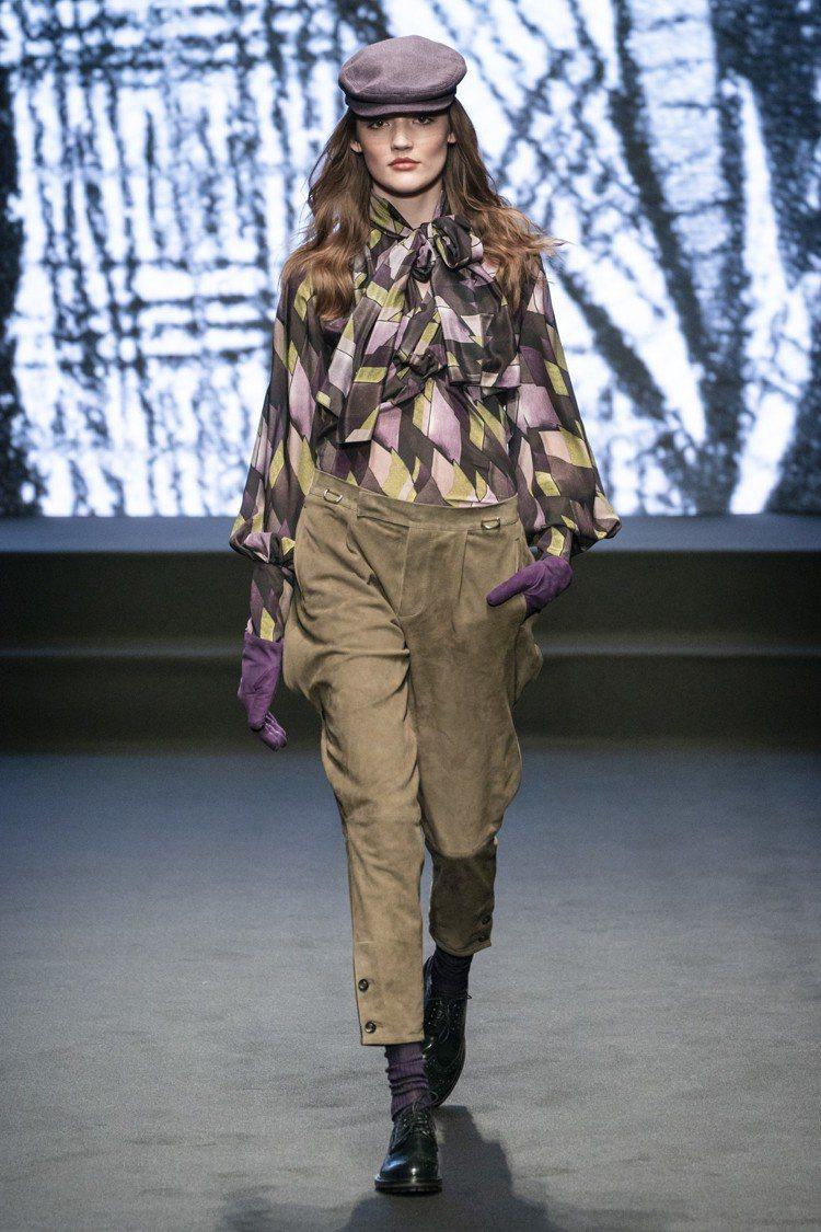 DAKS 2019秋冬女裝系列,有著古典又高貴的形象,符合了品牌的靈感發想。圖/...
