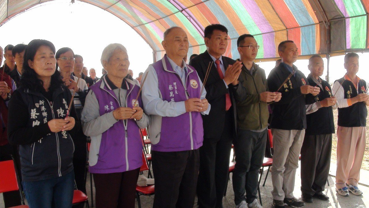 位於嘉義縣新港鄉的俊雄五號今天舉辦謝土通車儀式。記者謝恩得/攝影