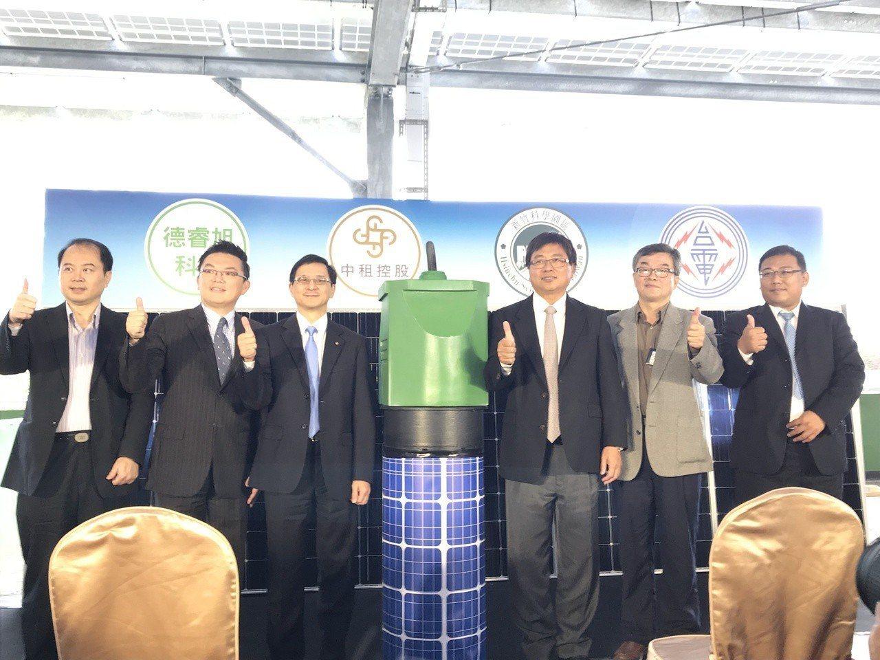 中租今啟用竹科停車場型太陽能電廠 。記者李珣瑛/攝影