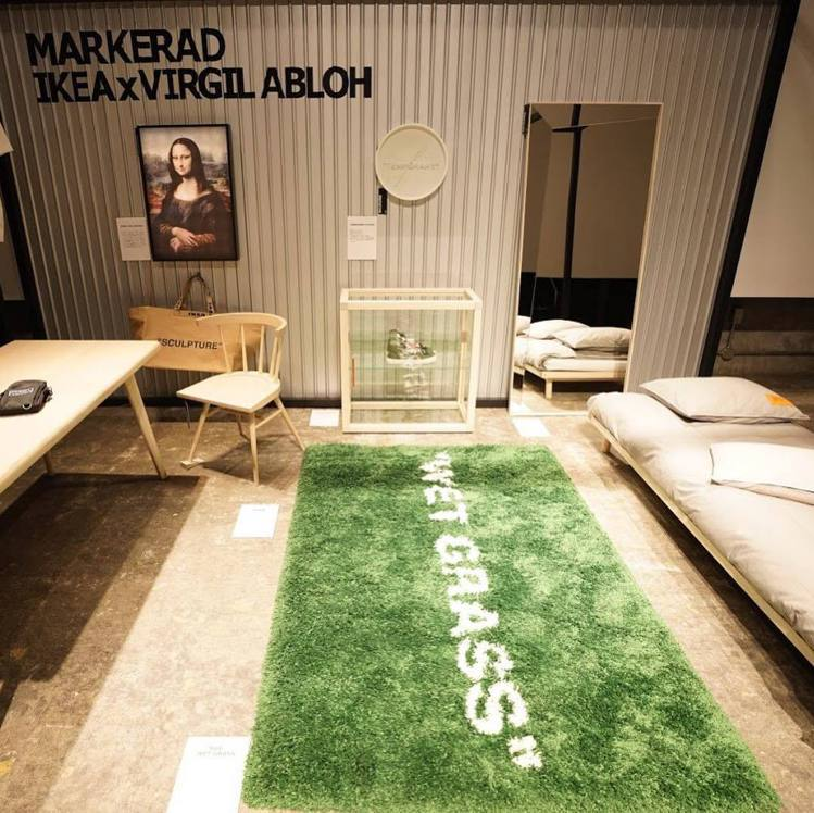 OFF-WHITE X IKEA地毯,售價91~263美元,約台幣2,810~8...