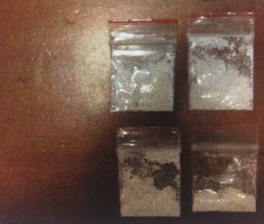 周姓男子身上持有4包海洛因毒品,遇警盤查加速逃逸