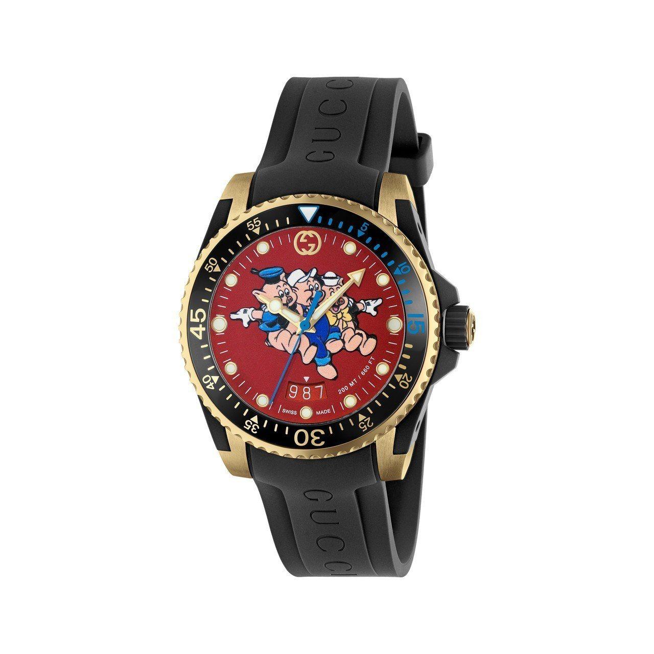 春節限定系列-三隻小豬腕表,51,000元。圖/Gucci提供