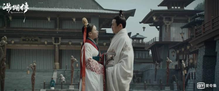 吳謹言與聶遠再度合作「皓鑭傳」。圖/愛奇藝台灣站提供
