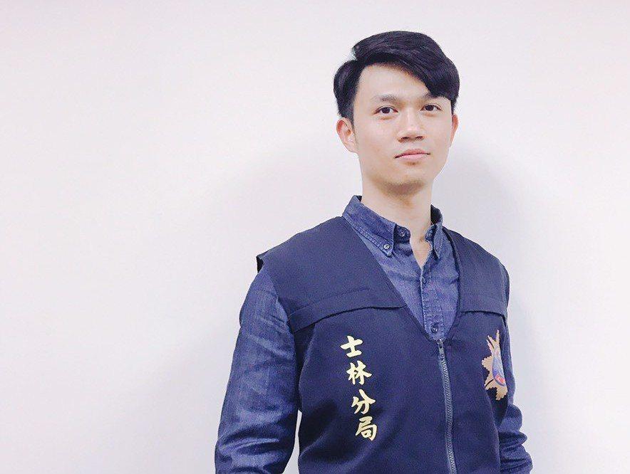 「士林吳慷仁」黃紹宸在士林分局偵查隊擔任分隊長。  記者蕭雅娟/翻攝