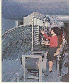 1965年台北郵局分揀郵件機械設備。 圖/中華郵政提供