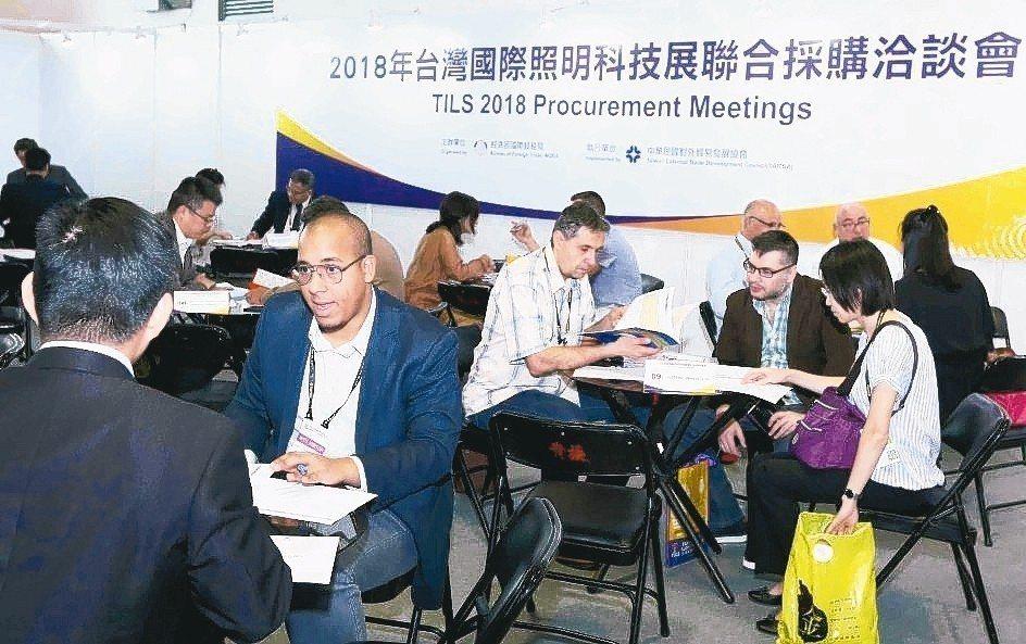 去(2018)年照明科技展聯合採購洽談會現場。 貿協/提供