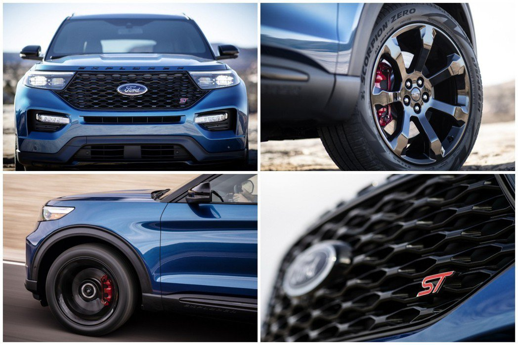 全新Ford Explorer ST外觀特色。 摘自Ford