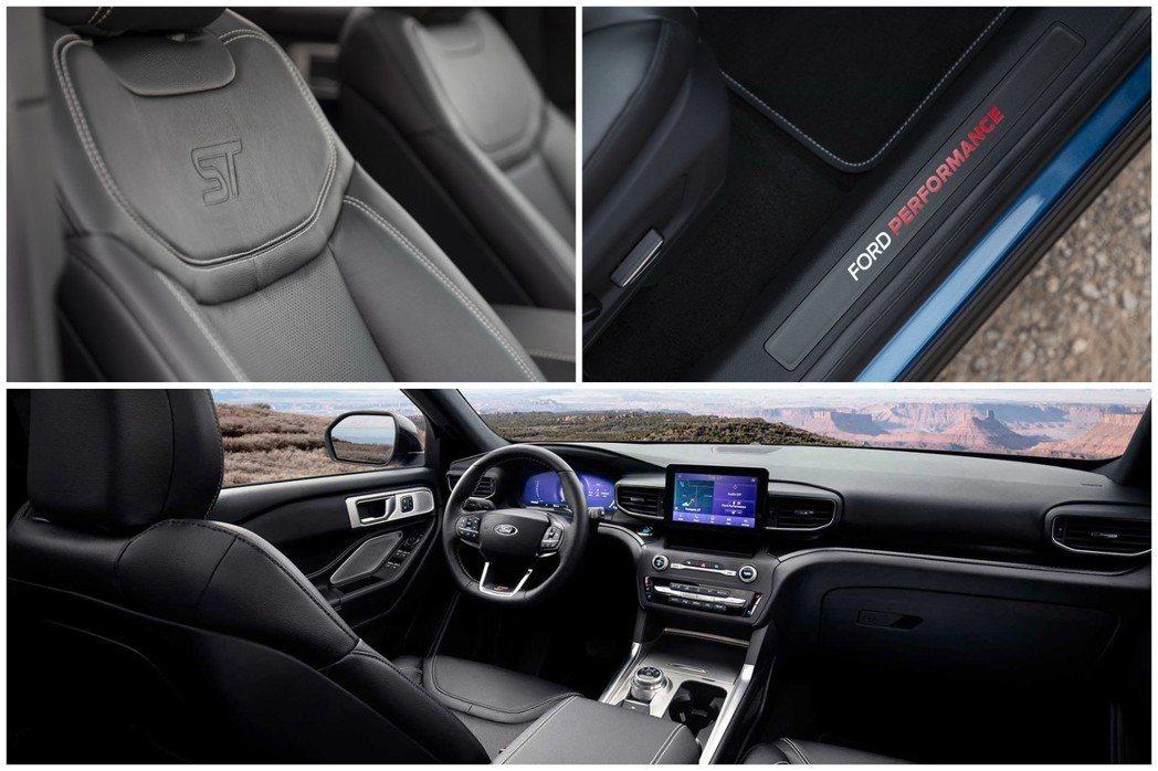 全新Ford Explorer ST內裝。 摘自Ford