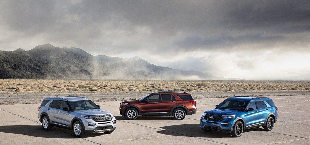第六代Ford Explorer車系編成分為Base、XLT、Limited、Platinum,更有性能強大的ST版本可選擇。 摘自Ford