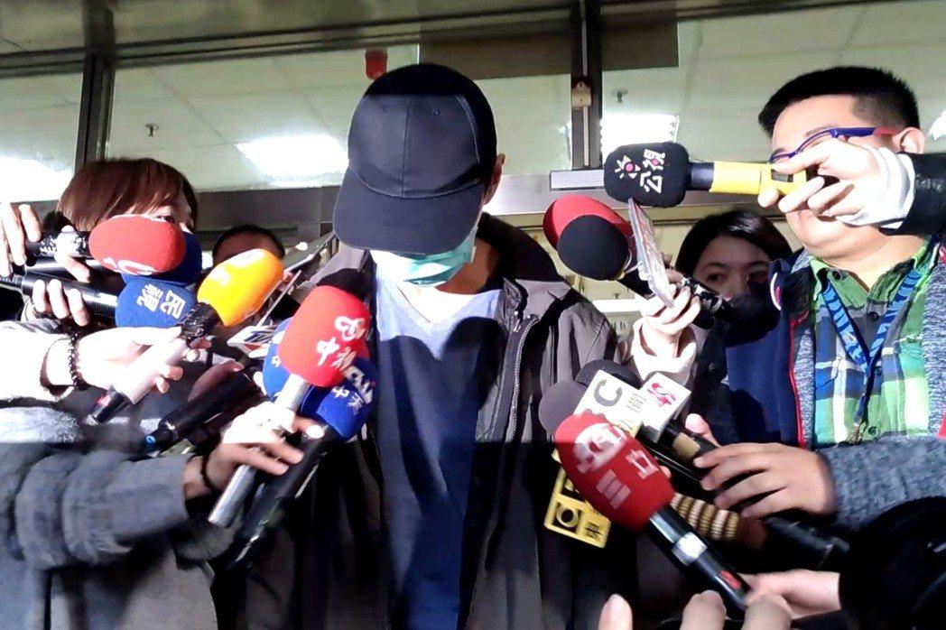 1月14日,對妻兒動粗的肉圓爸,出面公開道歉。 圖/聯合報系資料照