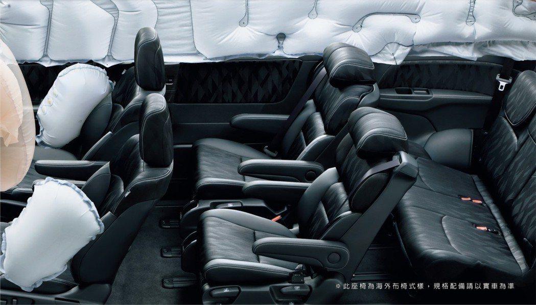 Honda ODYSSEY配備6具SRS氣曩。 圖/台灣本田提供