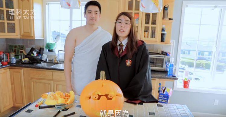 理科太太(右)與理科先生的自然互動頗受廣大網友歡迎。圖/摘自YouTube
